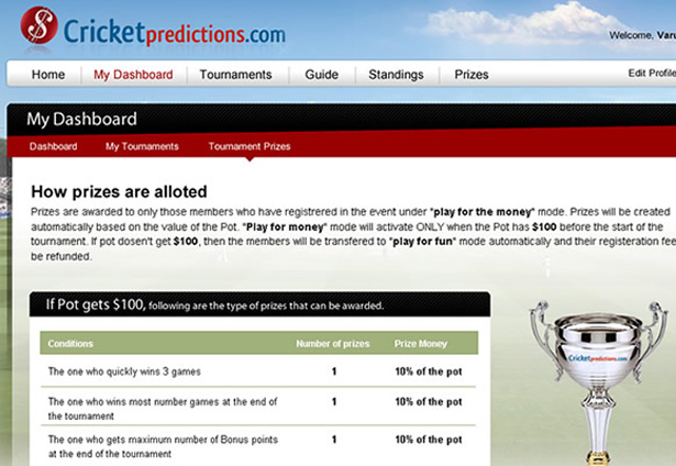 Cricket Predictions - Portfolio Images - Galaxy Weblinks