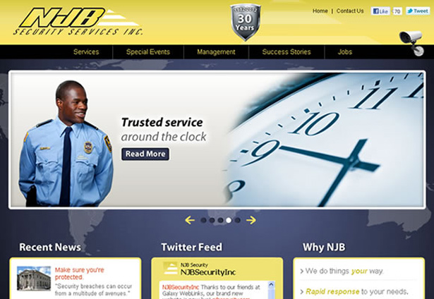 NJB Security - Portfolio Image - Galaxy Weblinks