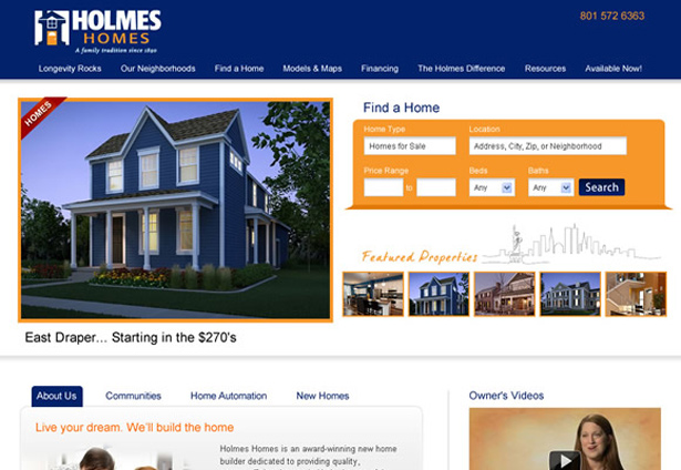 Holmes Homes - Portfolio Image - Galaxy Weblinks