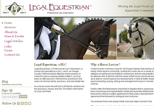 Legal Equestrian - Portfolio Image - Galaxy Weblinks