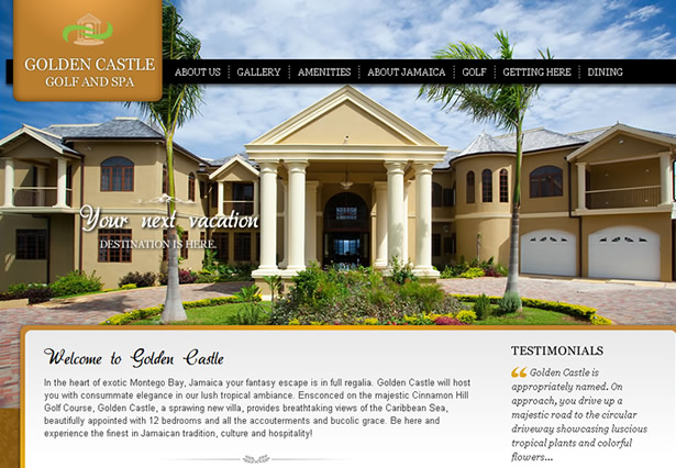Golden Castle Villa - Portfolio Image - Galaxy Weblinks