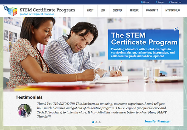STEM Certificate program home page
